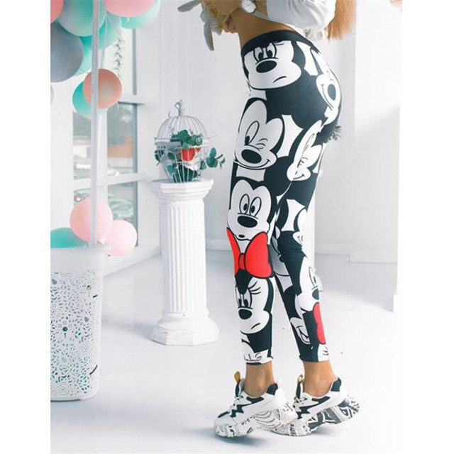 3D Mickey Women Leggings Stretchy Fitness Women Sweatpants Mickey Gym Leggings Female Mickey Pants Women Leggings 6