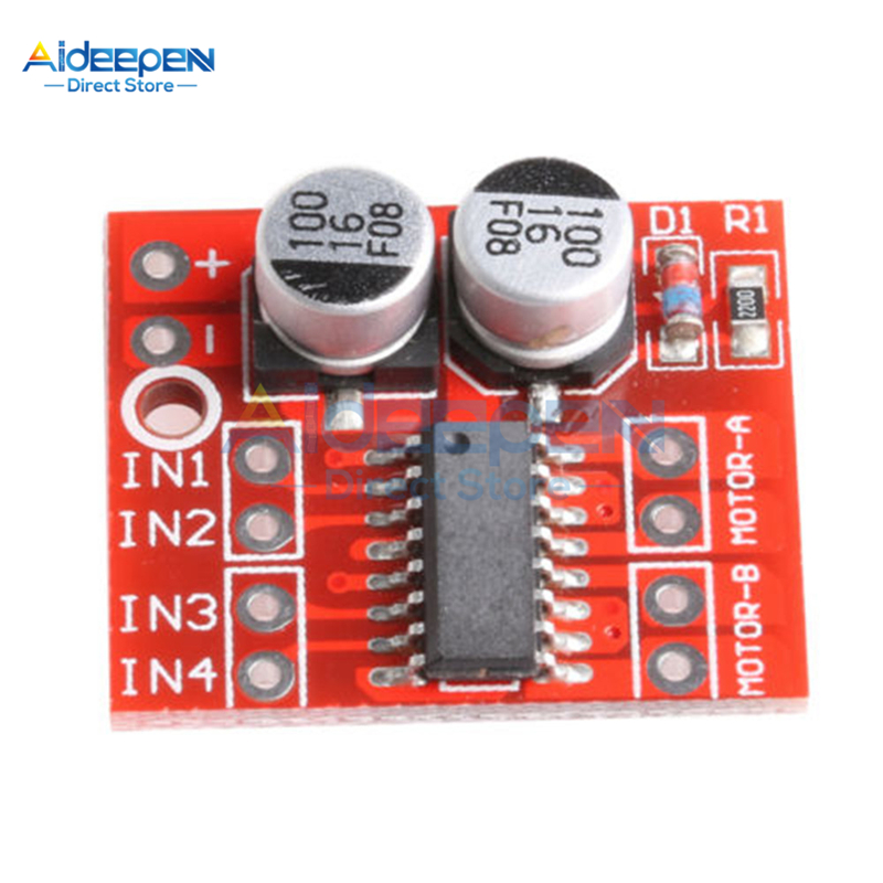 DC 2V-10V 1.5A MX1508 DC Motor Driver Module 2 Way 4-Wire 2-Phase PWM Speed Dual H-Bridge Stepper Motor Driver L298N