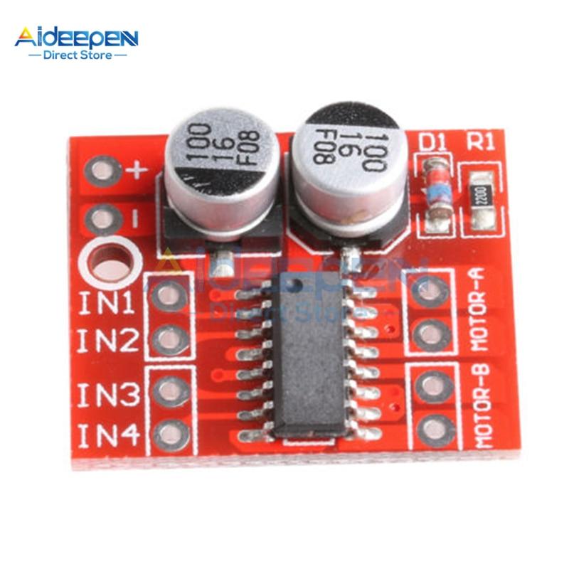 DC 2V-10V 1.5A MX1508 DC Motor Driver Module 2 Way 4-Wire 2-Phase PWM Speed Dual H-Bridge Stepper Motor Driver L298N