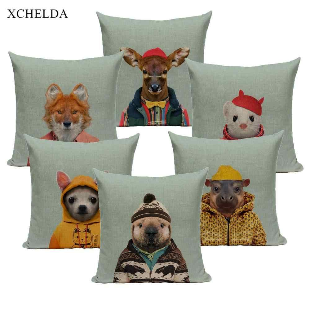pillowcase animal pillow cases funny designer cute bunny dog 45 45 40 40 child kids decoration fur linen cushion cover