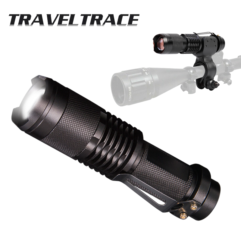 Tactical Flashlight for Rifle Hunting Accessories Shooting Super Powerful LED Flashlight Ultra 100000 Lumens 18650 Rechargeable