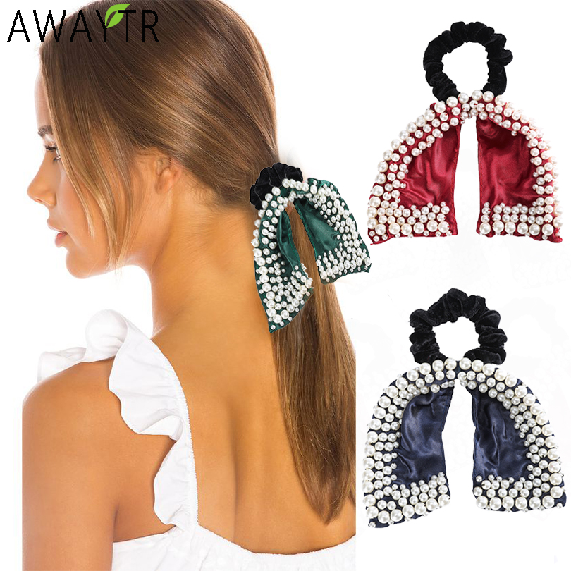 Women/'s Girls Elastic Knotted Hair Ties Ponytails Holder Hairbands Bracelets NEW