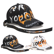Casual Men Baseball Caps Cotton Baseball Cap Women Baseball Hat Hip Hop Girl Adjustable Snapback Caps Alphabet Graffiti GD Hats стоимость