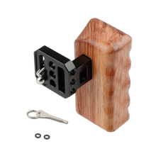 """Kayulin Left Wooden Handle Grip with Two 1/4"""" 20 Screws for Universal Dslr Camera Cage"""
