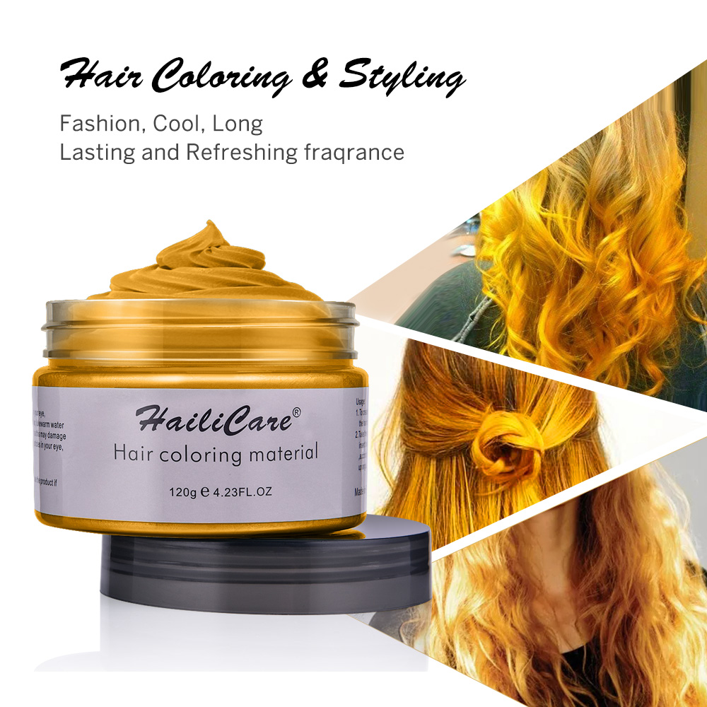 Hair Color Wax Styling Pomade One-time Molding Grandma Grey Fashion Festival Celebrate Coloring Mud Cream 7 Colors Available 6