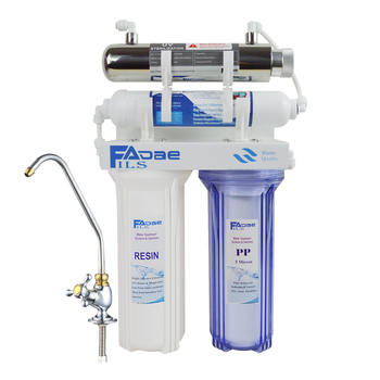 цена на High Quality! 4-Stage Undersink Softener Drinking Water Filtration System with ultraviolet sterilizer -Kitchen use