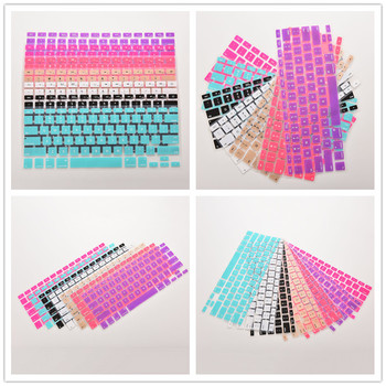 1PCS 28.7cm x 11.9cm Silicone Keyboard Cover Skin Protector 7 Candy Colors For Apple Macbook Pro MAC 13 15 17 image