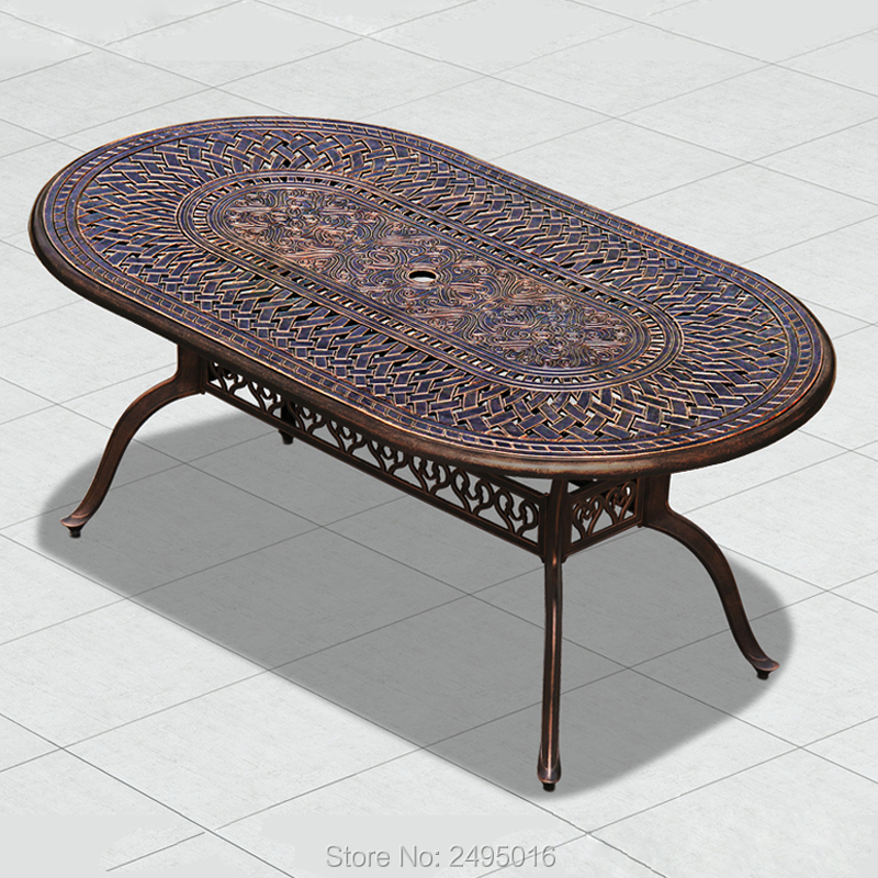HOT SALE Cast aluminum patio dining table for garden chair ...