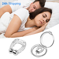 Silicone Nose Clip Magnetic Anti Snore Stopper Silent Sleep Non Snoring Solution Aid For Sleeping