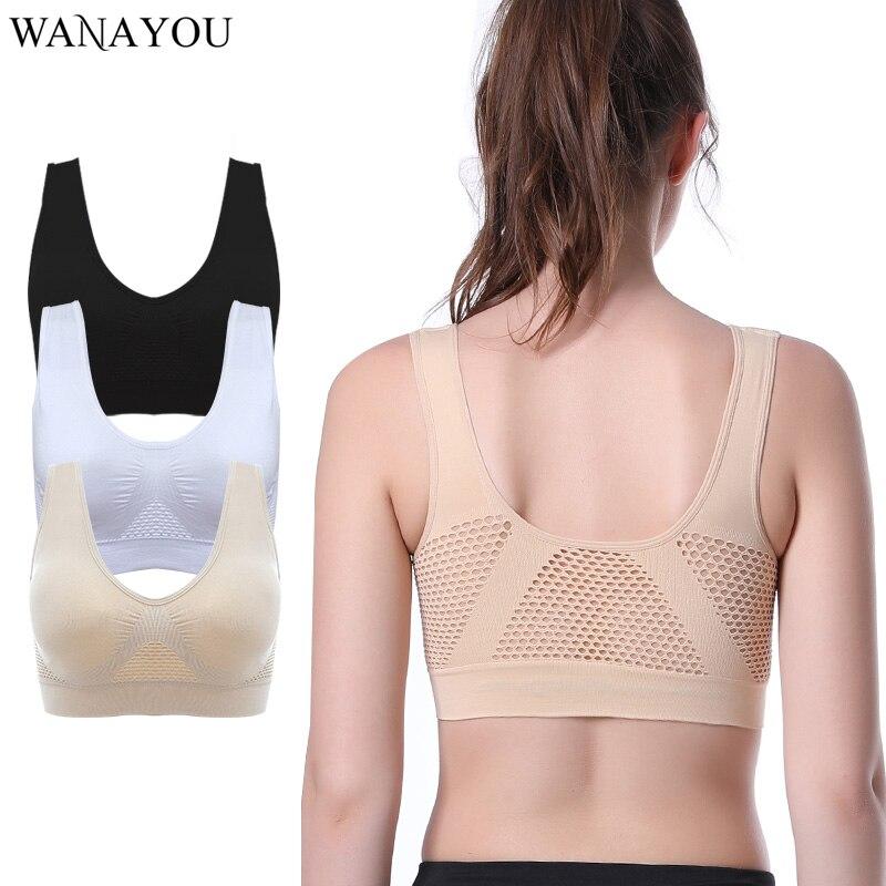 Women Seamless Comfort Padded Yoga Sports Stretch Bra Crop Top Vest Sleep Bra