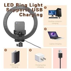 Image 3 - 16 26 سنتيمتر USB LED مصباح مصمم على شكل حلقة التصوير فلاش مصباح مع 130 سنتيمتر حامل ثلاثي القوائم ل ماكياج يوتيوب VK تيك توك فيديو عكس الضوء الإضاءة