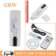 Grwibeou เสาอากาศดิจิตอล USB 2.0 HDTV ทีวีจูนเนอร์ & สำหรับ DVB T2/DVB T/DVB C/FM/DAB สำหรับแล็ปท็อป PC