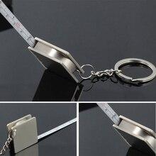 Подарочный измерительный инструмент крепкий компактный двойного назначения практичный DIY ручной работы тяга линейка Выдвижная рулетка брелок с защитой от потери прочный