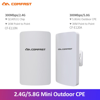 1-3Km Long Range WIFI Outdoor CPE WIFI Router 2.4Ghz ,5Ghz 300Mbps Wireless Router Outdoor WIFI CPE Bridge Repeater Access Point 3 5km long distance 300mbps outdoor wifi router cpe 2 14dbi wifi antenna high power 5ghz wifi repeater rj45 poe wireless bridge