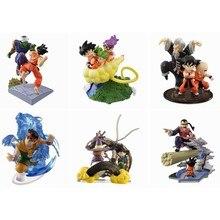 6 pezzi DBZ Yamcha Piccolo Goku Kuririn immaginazione Gashapon Action Figure Toy Brinquedos Figurals collezione modello regalo