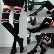 HIRIGIN Новые Стильная женская обувь Для женщин высокие женские сапоги с мягким верхом сапоги выше колена; носки; Длина стопы Хлопковые чулки модные Stockingss