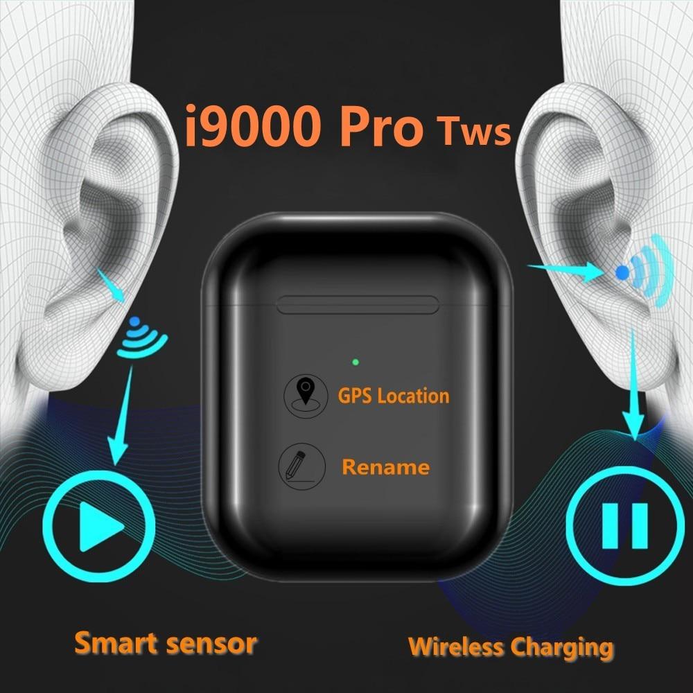 Drop Shipping I9000 Pro PK I12 Tws Bluetooth 5.0 Earphone Double Calls Stereo Smart Touch Wireless Headphones Pk I200 I9000 Tws