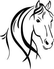 HobbyLane Car Horse Head and Mane Decal Sticker Styling Decoration Black White 2 color