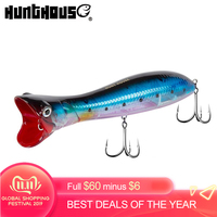 Hunthouse 2019 gt Popper fishing lure poppers leurre p che pesca topwater trolling 195mm 111g sea saltwater tuna lures LW602|Fishing Lures| |  -
