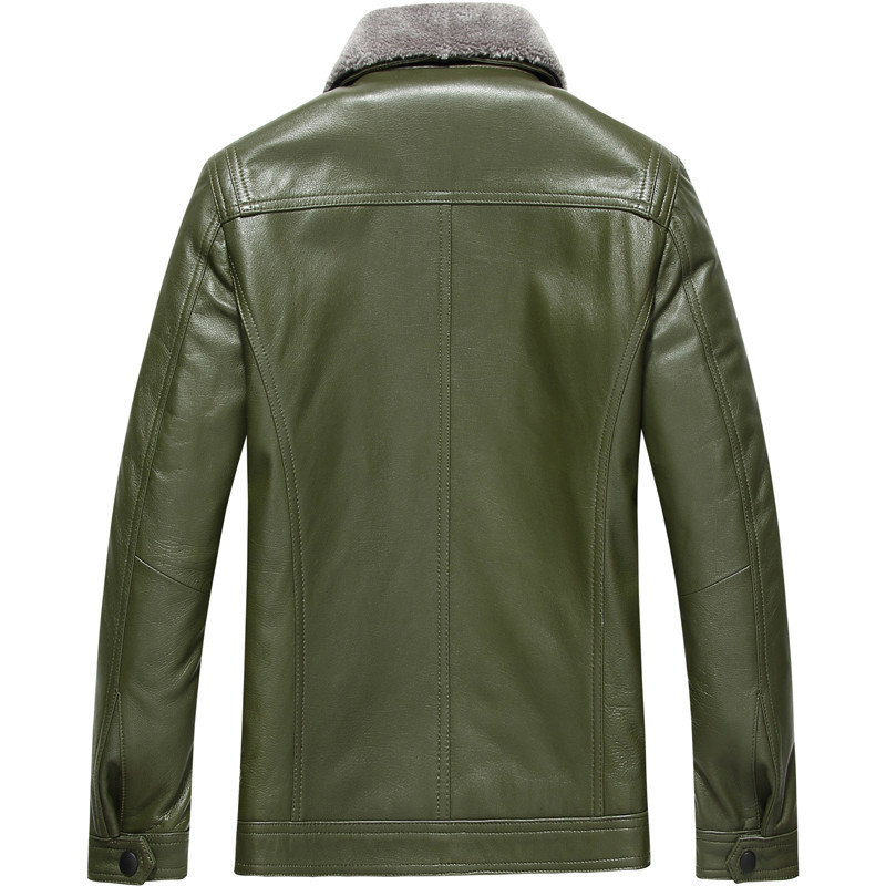 2020 Real Sheepskin Leather Jacket Men Autumn Winter Genuiner Leather Coat Wool Collar Giubbotti Pelle LSY080057 KJ1330