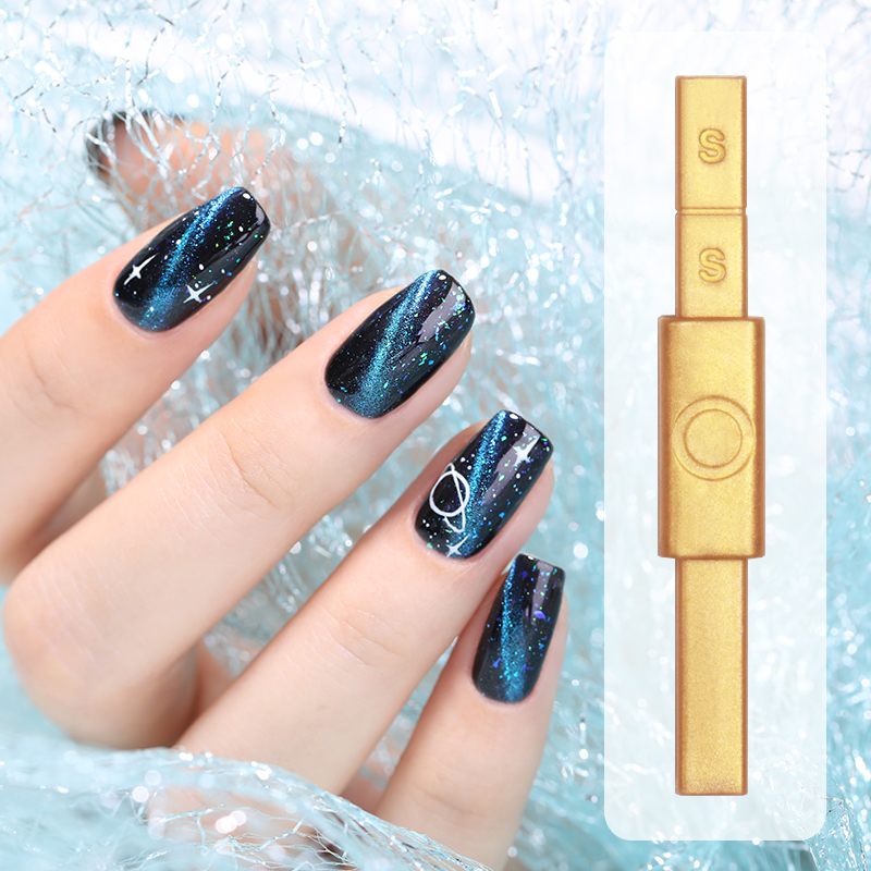 Gold Magnetic Stick Multi-function Magnet Nails Stick for Magnetic UV Gel Polish 12 Styles Nail Art Tools for Nail Design