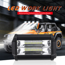 Car Truck Boat Working 24-LEDs 3030 LED Light Headlight Headlamp IP67 6000K 72W off-road