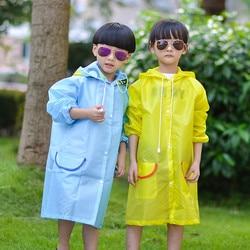 Bonito dos desenhos animados capa de chuva verão casaco de chuva para crianças meninos meninas nova criança jaqueta de chuva garoto menina menino à prova dwaterproof água com capuz longo rainwear