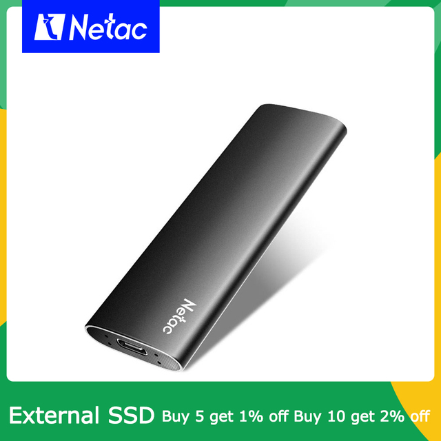 Netac External SSD 500GB 250GB Portable SSD 1TB 2TB SSD External Hard drive USB 3.2 Type C External Solid State Drive For Laptop 1