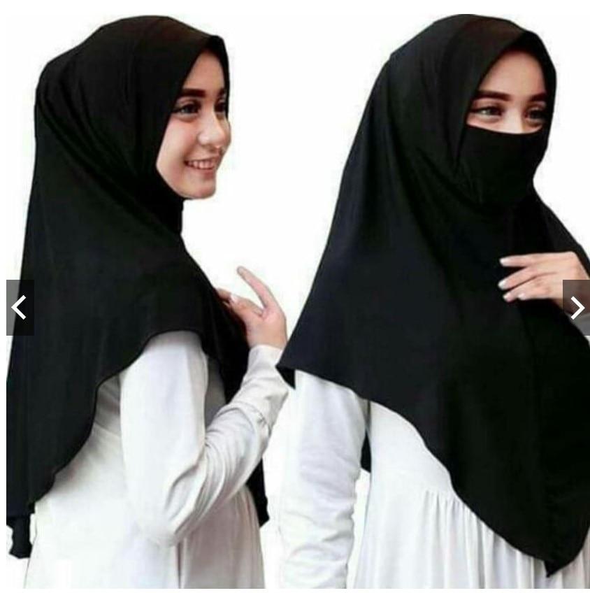 Muslim Fashion Woman Hijab Arab Ramadan Prayer Veil Wrap Head Covering Scarf Niqab Burqa Bonnet Amira Cap Islamic Abaya Headwear