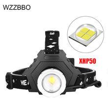 Мощный светодиодный налобный фонарь xhp50 8000 лм водонепроницаемый