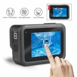 Image 5 - VSKEY 100 قطعة الزجاج المقسى ل GoPro بطل 8 كاميرا LCD واقي للشاشة عدسة غطاء طبقة رقيقة واقية ل بطل 8 أسود