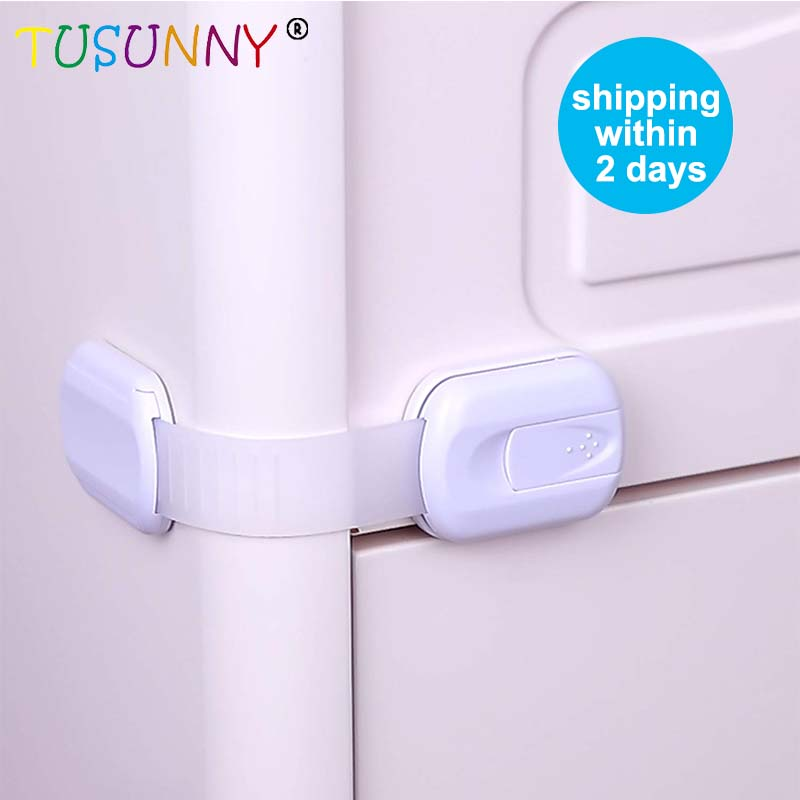 TUSUNNY 6 Pcs Magnetic Children Safety Drawer Lock Limiter Infant Baby Drawer Latch Cabinet Protection Security Invisible Locks