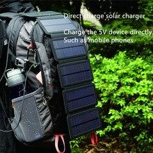 قابلة للطي 10 واط الخلايا الشمسية شاحن 5 فولت 2.1A USB إخراج الأجهزة المحمولة لوحات للهواتف الذكية في الهواء الطلق مغامرة