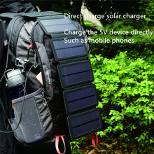 Folding 10W Solar Cells Charger 5V 2.1A USB Output Devices Portable Panels for Smartphones Outdoor Adventure
