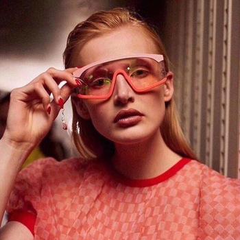 2020 nowe okulary przeciwsłoneczne damskie ponadgabarytowe połączone okulary przeciwsłoneczne moda damska wszystkie mecze szyby męskie okulary przeciwsłoneczne Tendy tanie i dobre opinie Anti-glare Polaryzacja Anti-Fog Anty-uv Pyłoszczelna Ochrona przed promieniowaniem Women Semi-Rimless Adult UV400