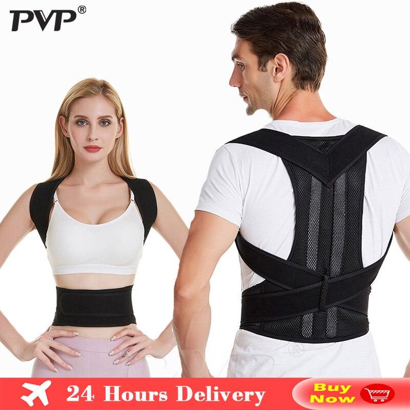 Posture Corrector Adjustable Back Support Shoulder Lumbar Brace Support Corset Back Belt for Men And Women Dropshipping Health