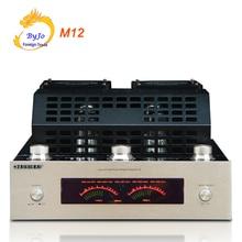 M12 HI FI Bluetooth vakumlu tüp Stereo amplifikatör desteği USB ses güç amplifikatörü bas hifi çıkışı 2 destek 220V veya 110V