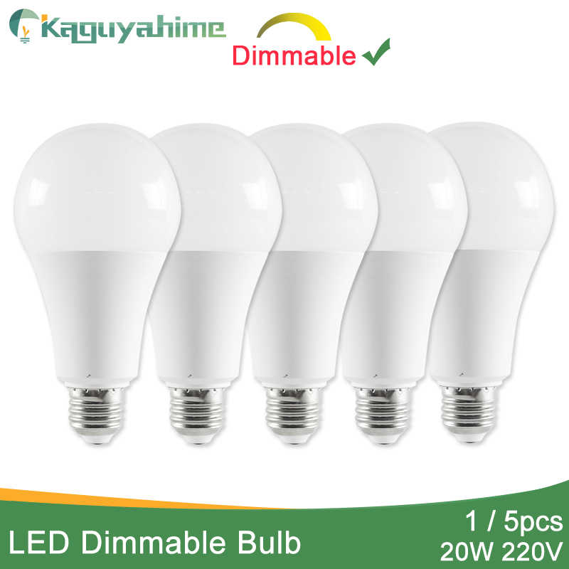 Kaguyahime 1pc/5pcs 20W Dimmable High Bright E27 LED Lamp 220V LED Bulb E27 LED Light Lampada Lampara Bombilla Ampoule 6w 9w 15w