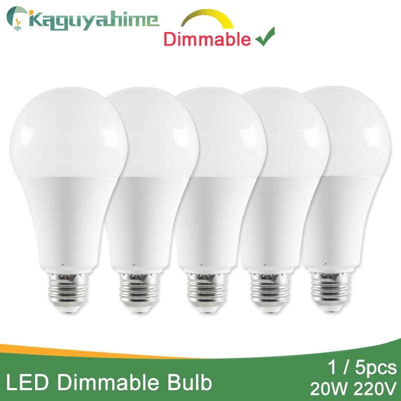 Kaguyahime 1pc/5pcs 20W Dimmable High Bright E27 LED Lamp 220V LED Bulb E27 LED Light Lampada Lampara Bombilla Ampoule 6w 9w 15w
