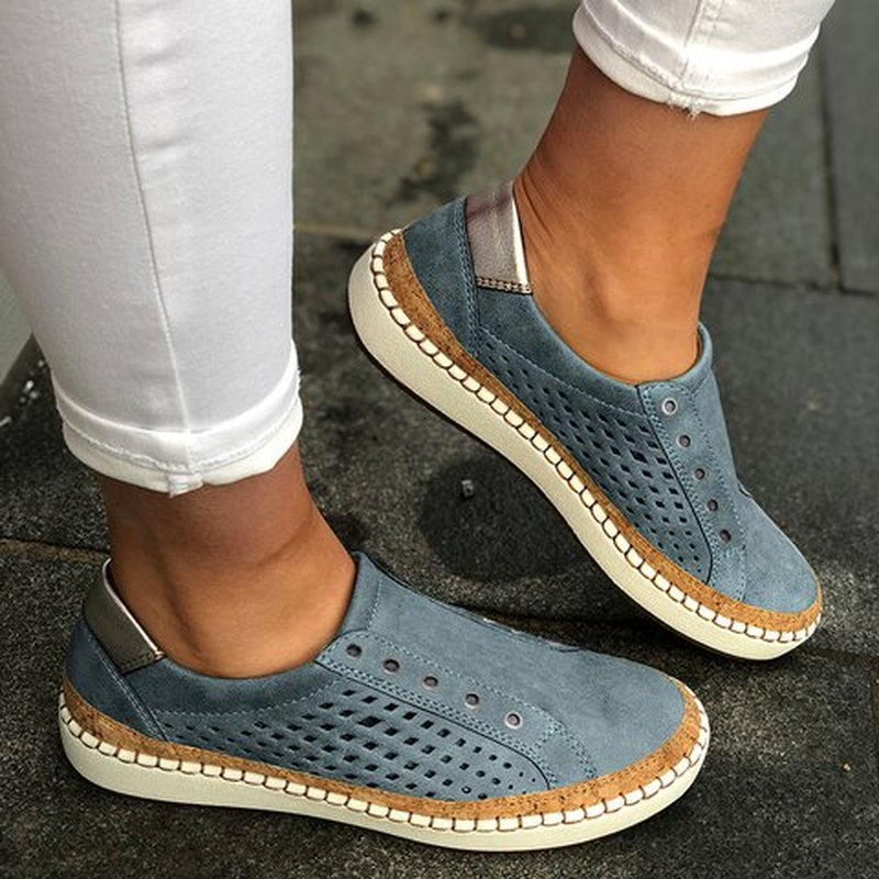 LITTHING หนัง Loafers Casual รองเท้าผู้หญิง SLIP-ON สบาย Loafers Flats Tenis Feminino Zapatos De Mujer