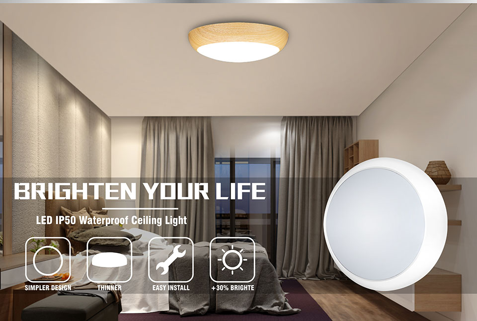 Dimmable Round Surface Mounted LED Ceiling Lamp Waterproof  For Bathroom Kitchen Bathhouse Indoor And Outdoor Lighting|Ceiling Lights|   - AliExpress
