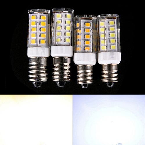 E12/<font><b>E14</b></font> 33PCS <font><b>LED</b></font> Light <font><b>Bulb</b></font> 5 <font><b>W</b></font> <font><b>220V</b></font> SMD Ceramic Lamp Replace 360 Degree Halogen For <font><b>Candle</b></font> Crystal Chandelier Refrigerator image
