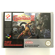Pal 콘솔 용 상자 16 비트 게임 카트리지가있는 super castlevania iv