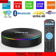 T95Q Android 9.0 Smart TV BOX 4K Media Player DDR3 Amlogic S905X2 Quad Core 2.4G&5GHz Dual Wifi BT4.1 100M H.265 Smart TV Box m9 plus amlogic s905 android5 1 4k smart tv box