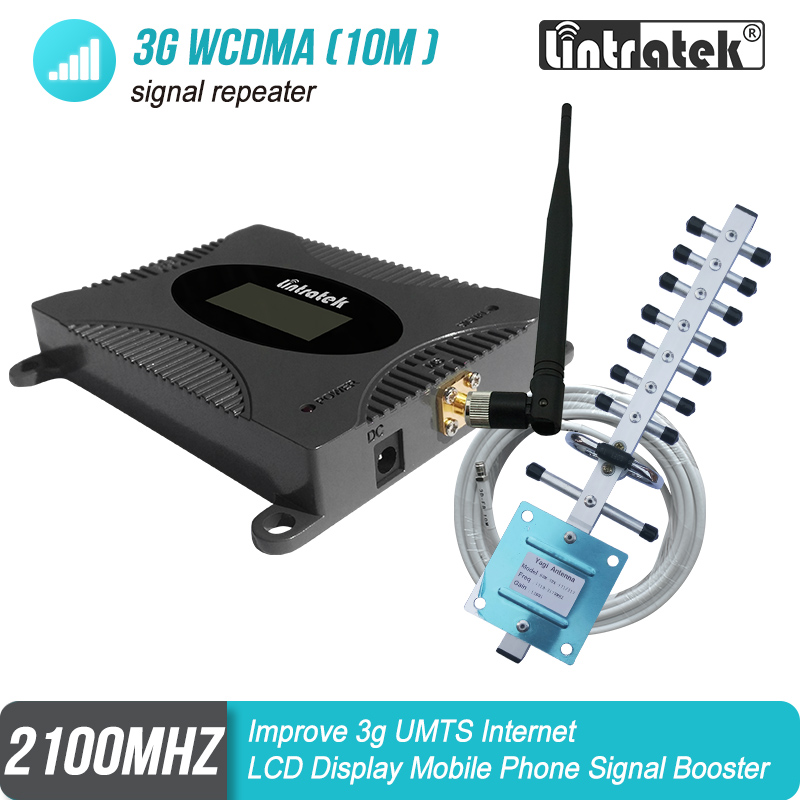 3G WCDMA UMTS 2100mhz Cellular Signal Repeater Full Kit 3G Network Booster Strengthen 2100 Internet Voice Call Amplifier #17
