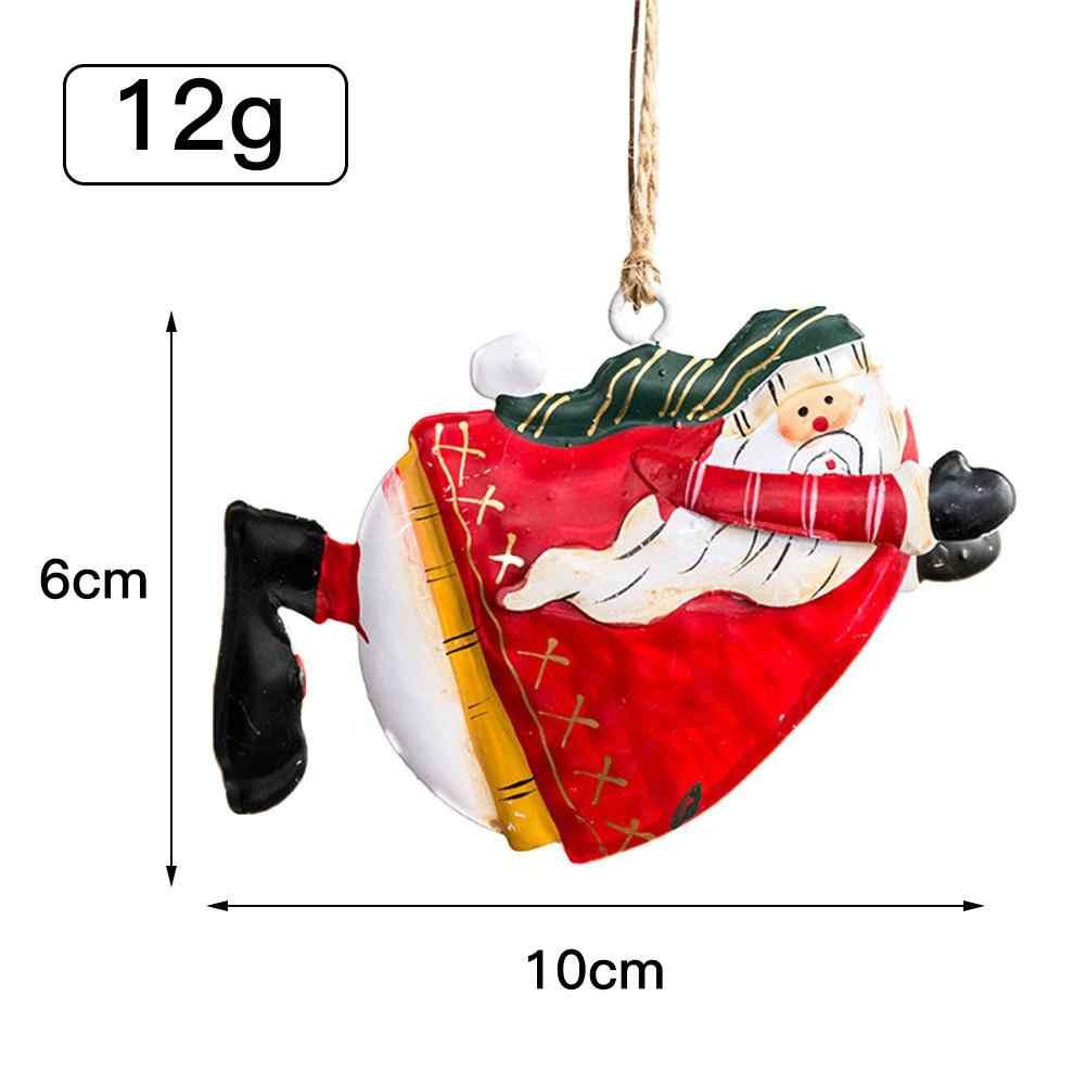 2020 árbol de Navidad colgante oso Ángel Santa campana decoración fiesta de Navidad boda decoración Metal hierro suspensión regalo de Navidad