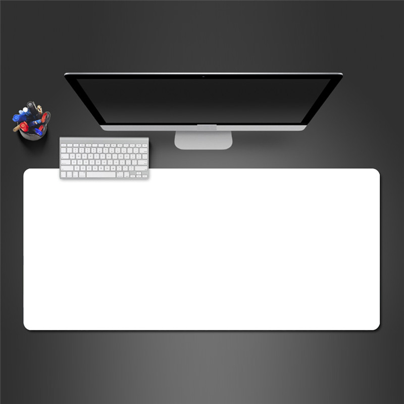 Large Art All Black /White Mouse Pad XXL Rubber Computer Gamer Gaming MousePad Locking Edge Keyboard Pad Laptop Desk Mat