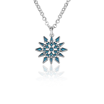 ZXMJ RWBY Necklace Pendant snowflake Schnee Blake Belladonna Necklace for Friends Women Jewelry blue Long chain Halloween Gifts image