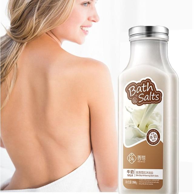 350g Body Bath Milk Essence Bath Salts Natural Bubble Bath Exfoliating Softening Whitening Skin Care 2
