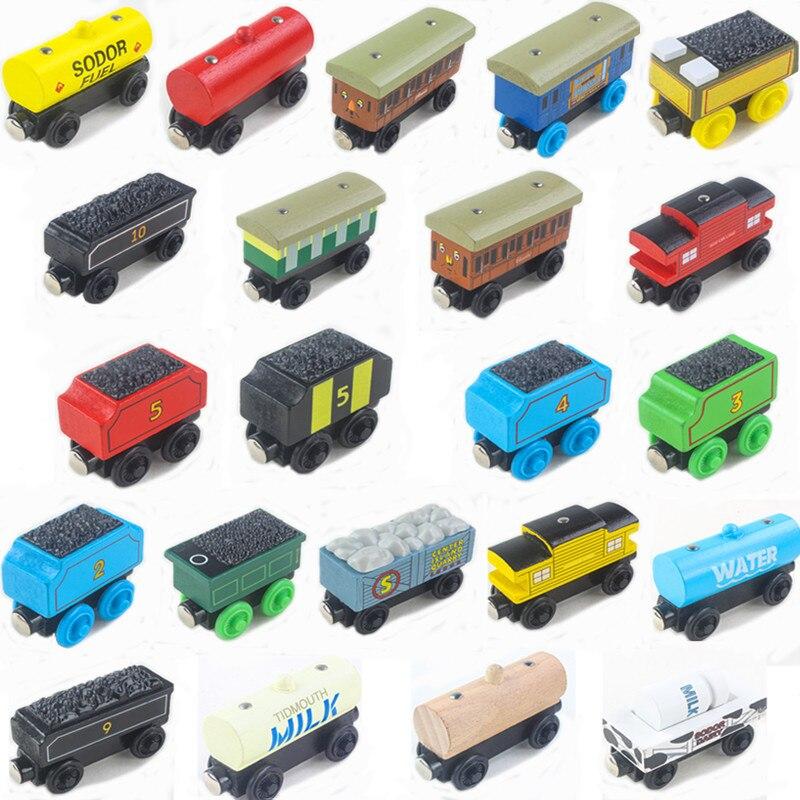 Новинка, деревянный поезд Thomas, магнитный деревянный поезд, Игрушечная модель, магнитная игрушка, рождественский подарок для детей, деревянн...